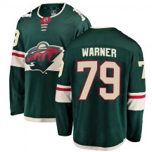 Minnesota Wild Youth Hunter Warner Fanatics Branded Breakaway Green Home Jersey